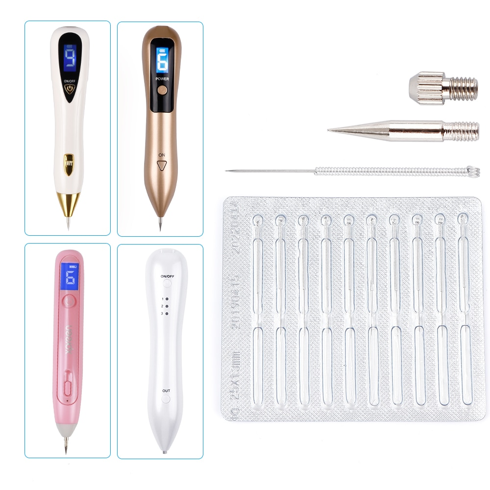 Plasma Pen Needles Kit For Wart Tag Tattoo Remover Pen Dedicated Needles For Laser Skin Mole Freckle