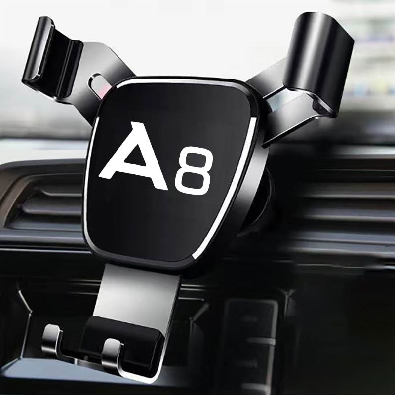 Metal Phone Holder For Audi A8 Accessories Car Air Outlet-Holder Mobile Phone Car Navigation Mobile