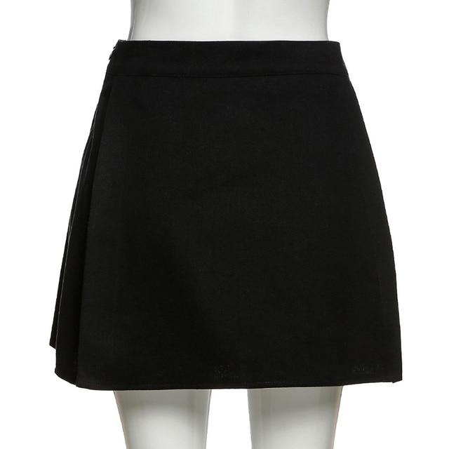 Y2K women's mini skirt, open print, high waist, black, punk style,  woman skirts  women clothes 10