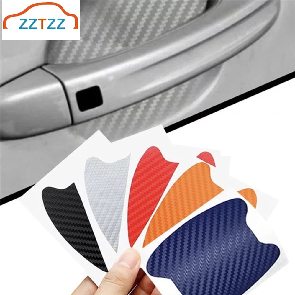4Pcs/Set Car Door Sticker Scratches Resistant Cover Car Handle Protection Film Automotive Car Exteri