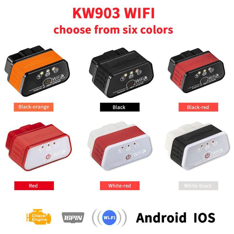 ELM327 V 1,5 OBD2 Scanner PIC18F25K80 KW903 WIFI OBD 2 Diagnose-Tool ULME 327 Code Automotive Scanner