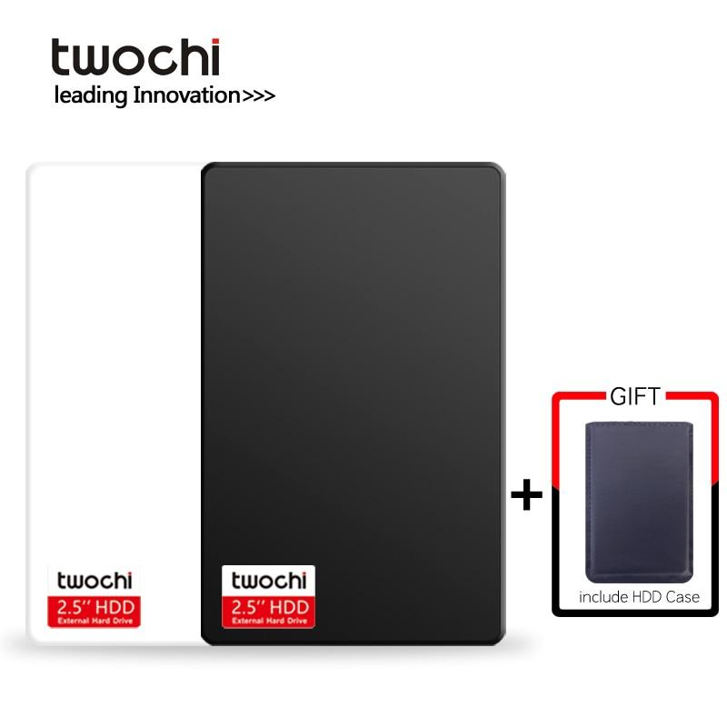 TWOCHI A1 USB3.0 2.5'' External Hard Drive 80GB 120GB 160GB 250GB 320GB 500GB Storage Portable HDD Disk Plug and Play for PC/Mac
