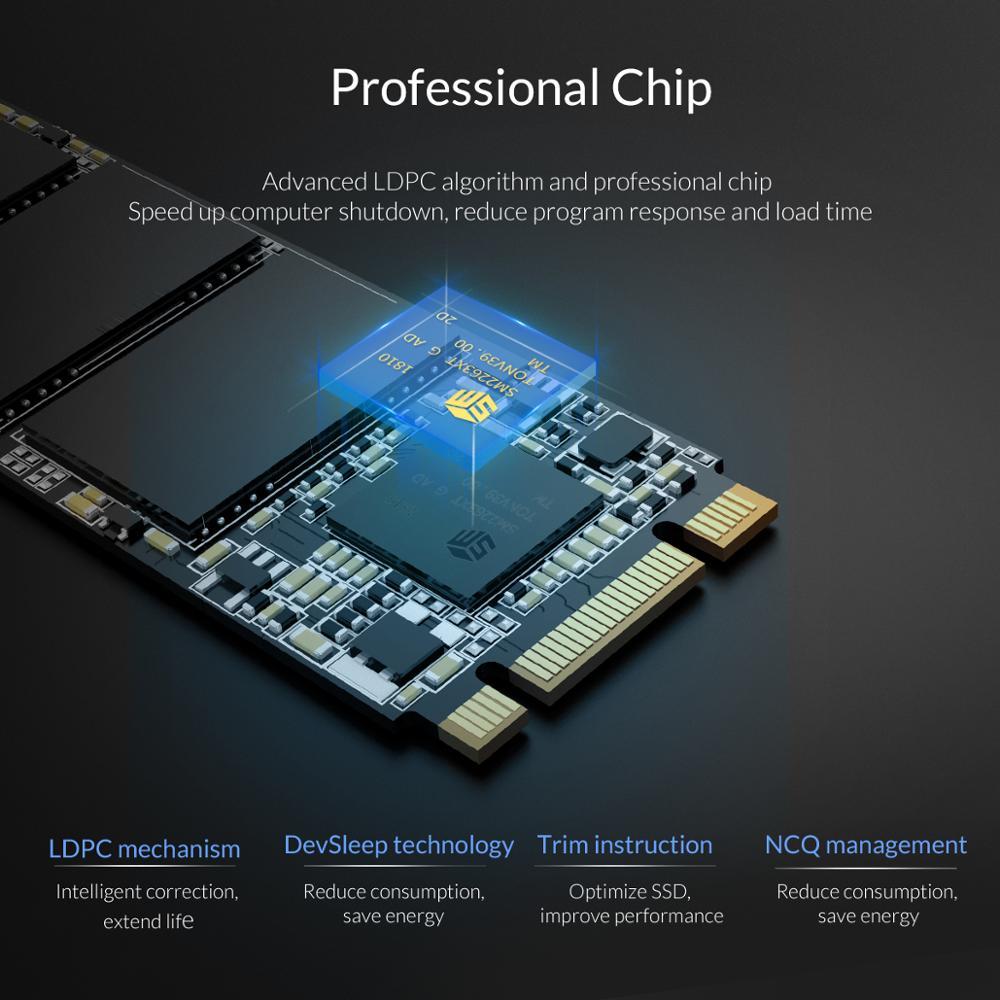 ORICO M.2 SATA SSD 128GB 256GB 512GB 1TB M2 NGFF SSD M.2 2280 mm Internal Solid State Hard Drive For Desktop Laptop enlarge