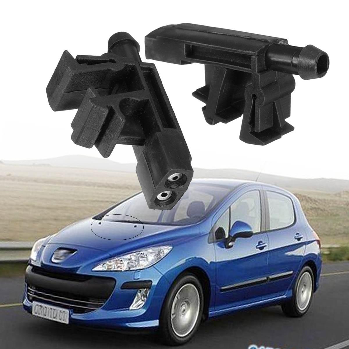 Par de boquillas limpiaparabrisas delantero, Izquierdo, derecho, para Peugeot Partner