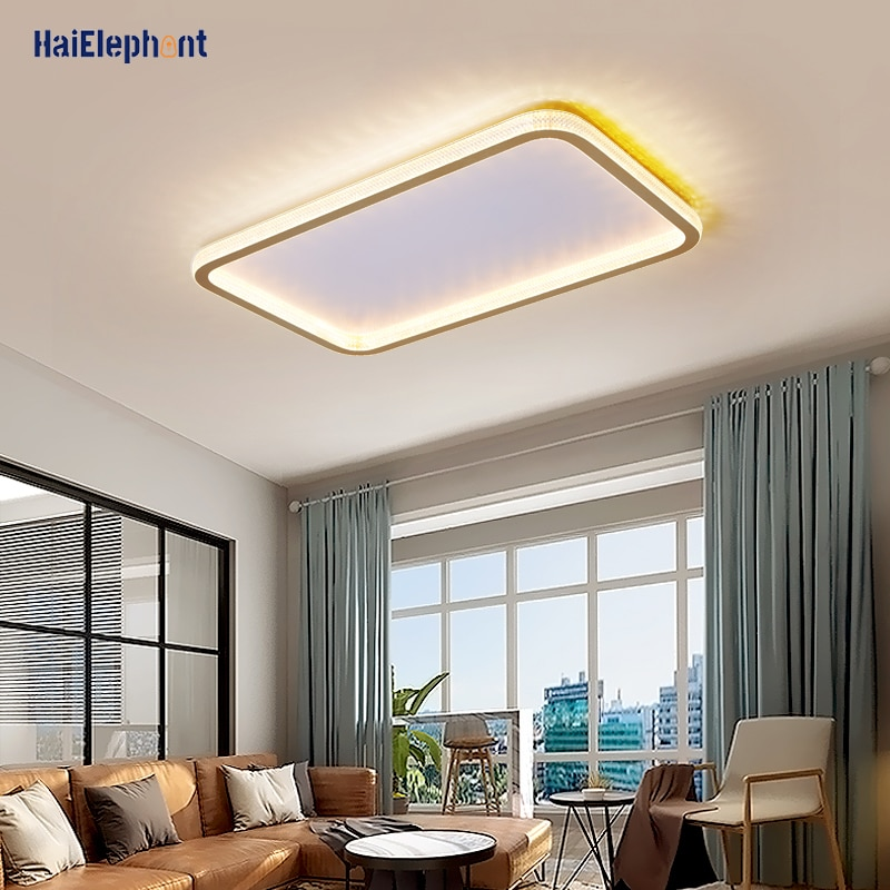 Surface Mounted Modern LED Ceiling Lights For Living Room Bedroom Simple Luxuxy Lamps Home Decor Lighting Luminaire Fixtures brown white modern led ceiling lights metal acrylic ceiling lamps for living room bed room surface mounted led ceiling light
