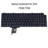 new german backlit keyboard for dell precision 7550 7750 0nn0mk gr ge qwertz laptop keyboards light replacement original dlm19l5