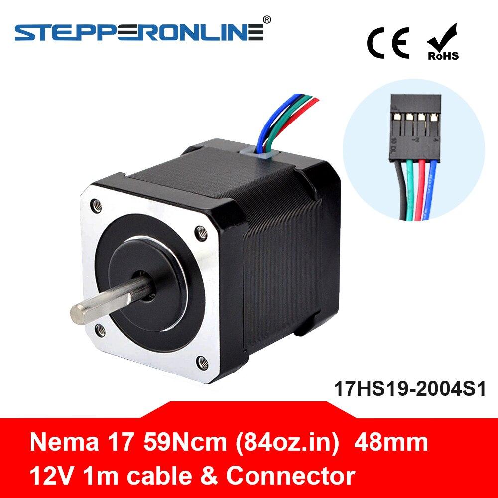 Nema 17 paso a paso Motor 48mm 42BYGH Motor 2A (17HS19-2004S1) Motor 4-de 1m de Cable para 3D impresora CNC XYZ Motor