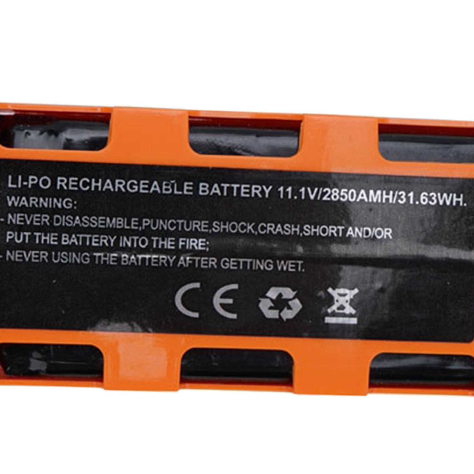 1 bateria li-po dos pces 11.1v 2850mah para a substituição das baterias do zangão de jjrc x17 rc