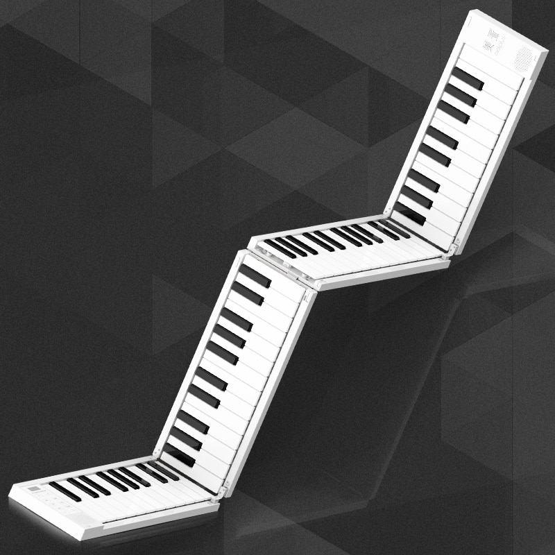 Portable Hand-Rolled Piano 88 Keys Folding Keyboard Support Headphone Output Professional Electronic Piano for Beginner Student