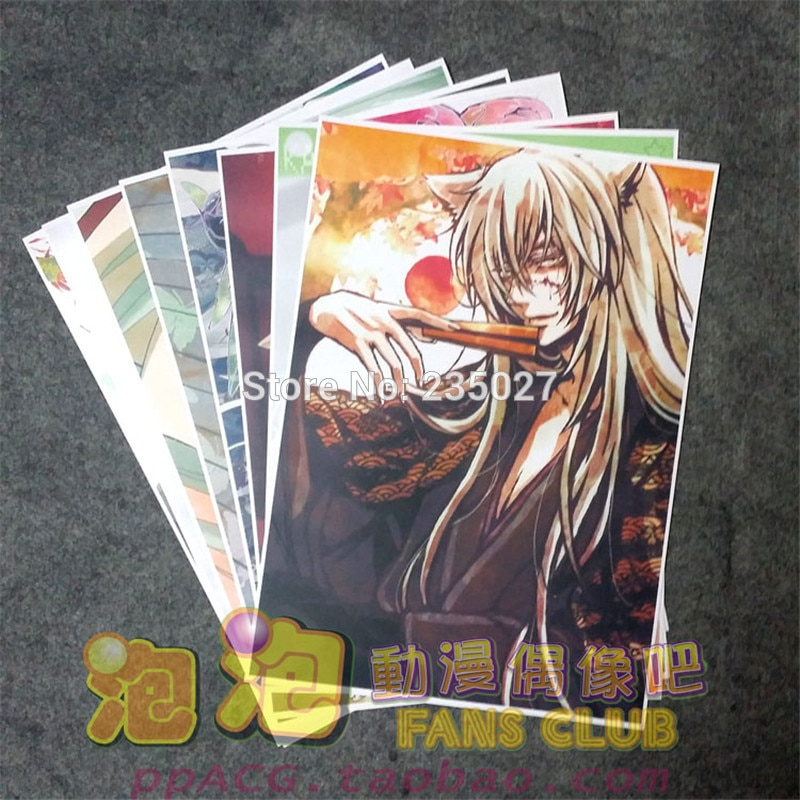 8 unids/set Anime Kamisama Love Kamisama Kiss poster Tomoe pared fotos habitación juguetes de pegatinas A3 carteles de dibujos animados