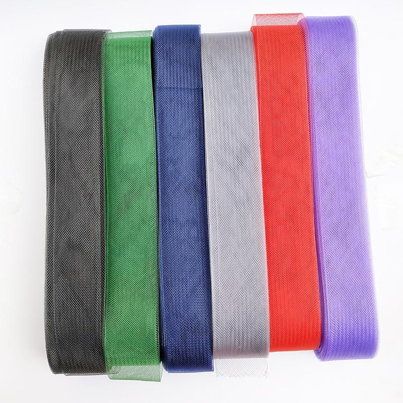 1pcs Soft Hair Horse Mesh Braid Polyester Mesh fabric Flat Plain Crin Ribbon For crafts,Women diy hat #12Color Various sizes