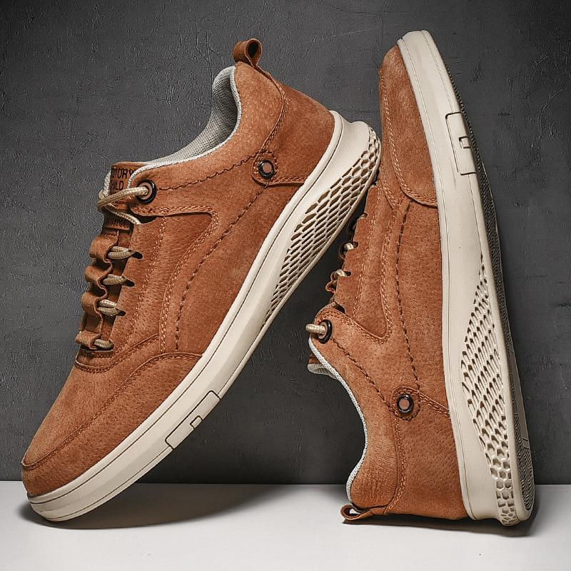 Sapatos de Couro Zapatillas para Hombre Grande para 2021 Mocassins Masculinos Genuíno Zapatos Cuero Homem Casual Masculino Tamanho