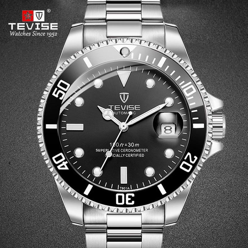New TEVISE Watches Men Automatic Mechanical Watch Men Luxury saat Male Clock Luminous Calendar Watch