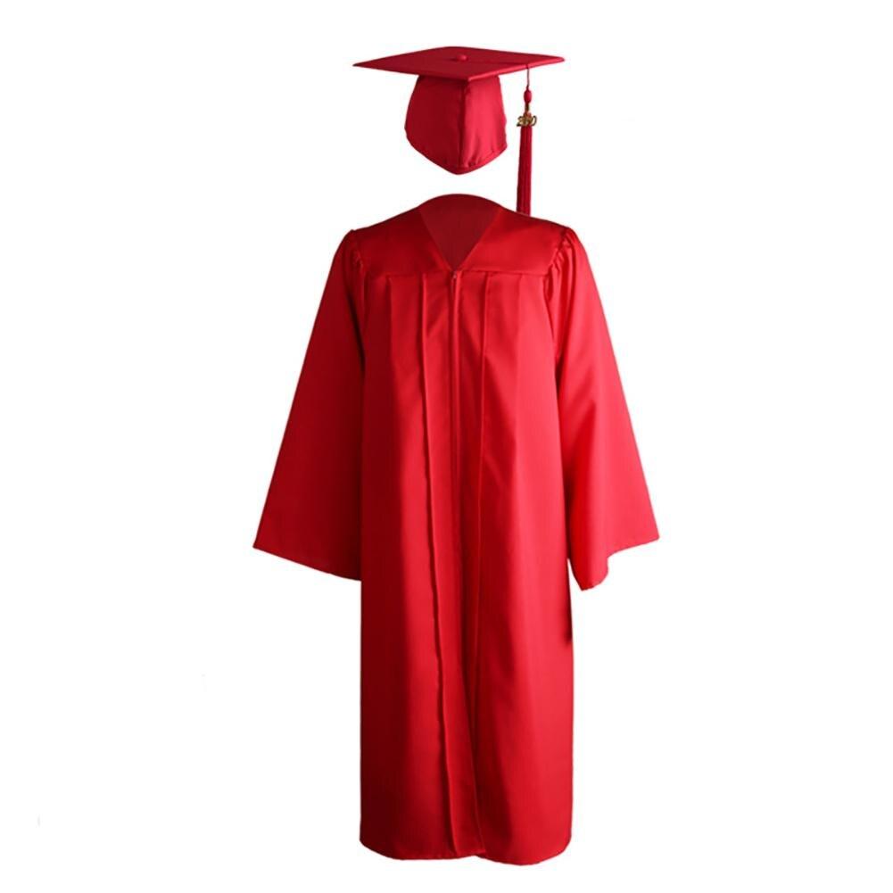 Vestido de graduação acadêmica da universidade de fechamento, para adulto, 2020