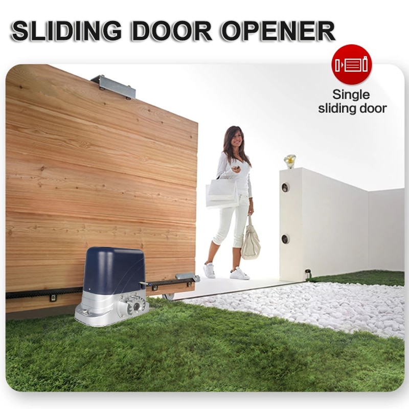 Automatic Sliding Gate Door Opener Hardware Sliding Driveway Motor Engine Security Complete Kit Optional 4m Nylon Rack Included 800kg electric sliding door motor automatic door opener moving wheel door with 4m steel tooth rack the standard configuration