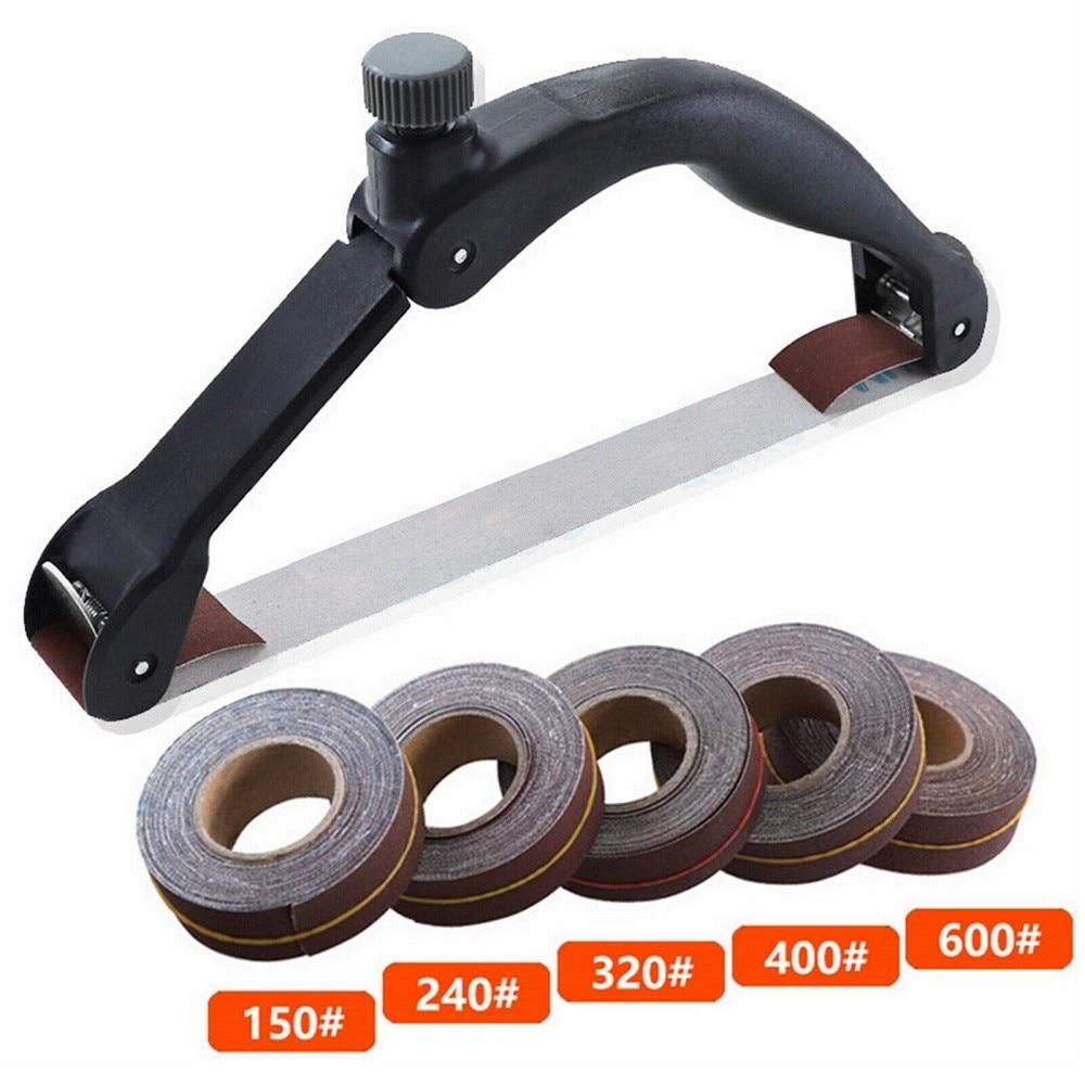 Handheld Bow Sandpaper Holder With Sandpaper Anti-slip Sanding And Polishing Belt Hand Tool Sanding Belt Rack