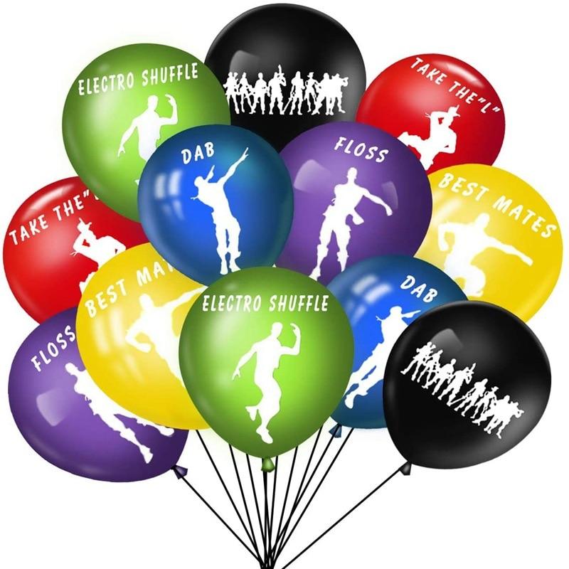 Fortnition Birthday Party Decoration Set Latex Balloon Game Theme Party Balloon Children's Birthday Toys Room Balloon Decor