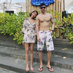 New Couple Beachwear Vacation Fashion Swimwear & Men Trunks