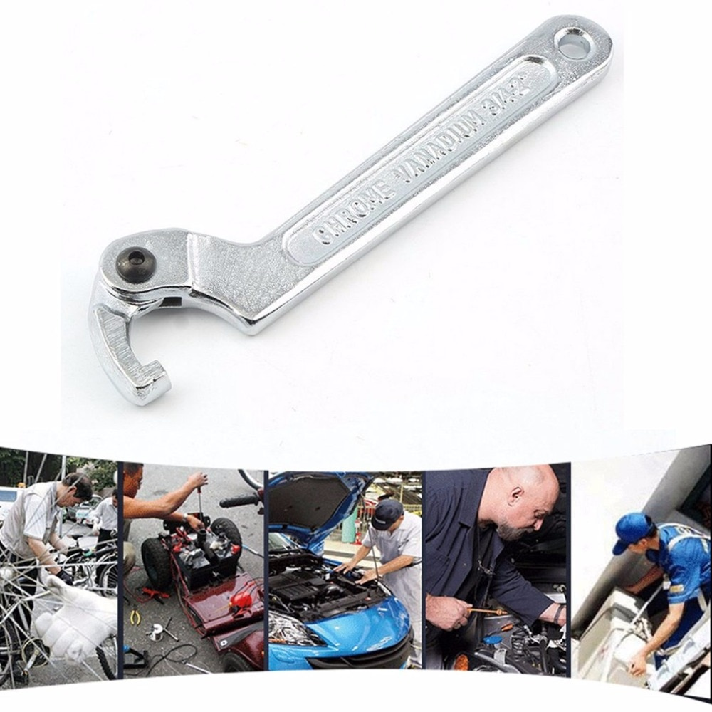 Llave de gancho ajustable de vanadio cromado de 19-51mm, herramienta de llave C, gran oferta de tienda en todo el mundo, triangulación de envíos