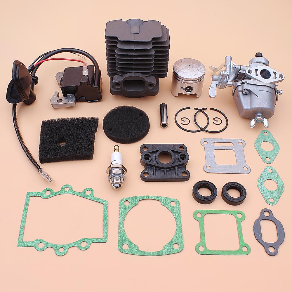 40mm Zylinder Kolben Vergaser Zündspule Kit Für Robin NB411 CG411 Luftfilter Element Saugrohr Dichtung Öl Dichtung set
