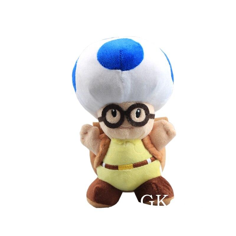 Toad-Peluche de Mario capitán Toad, juguetes azules de Peluche de 20 cm, Mario Mushroom, juguetes de Peluche para bebés, regalo de cumpleaños o Navidad