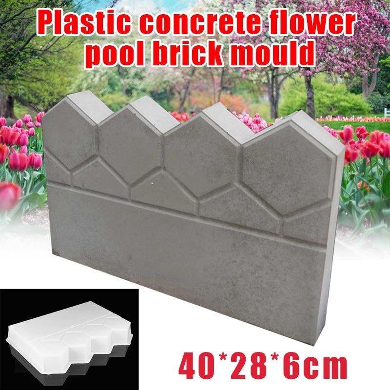 Jardim Esgrima Concreto Pedra Cimento Tijolo Molde Faça Você Mesmo Pavimentar Fazendo Gramado Lagoa Decoração Fp8