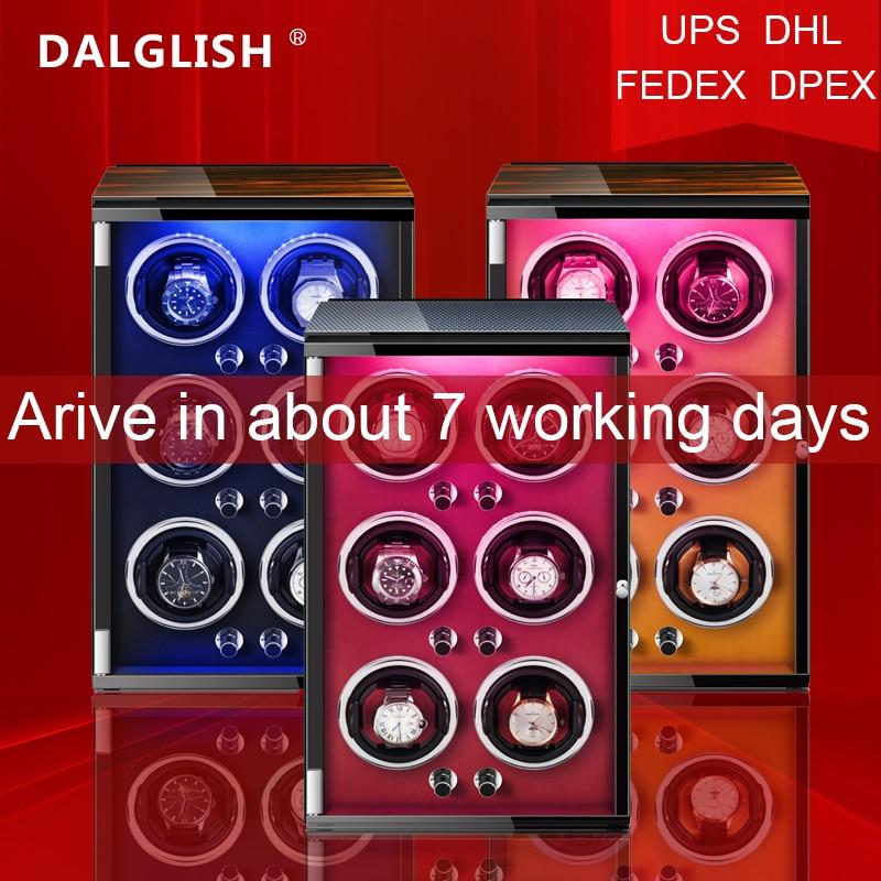 Automatic Watch Winder Box Uhrenbeweger Mechanical Display 6 Slots Male watch Automatic