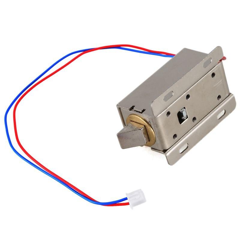 Absf fechadura elétrica porta válvula solenóide prata