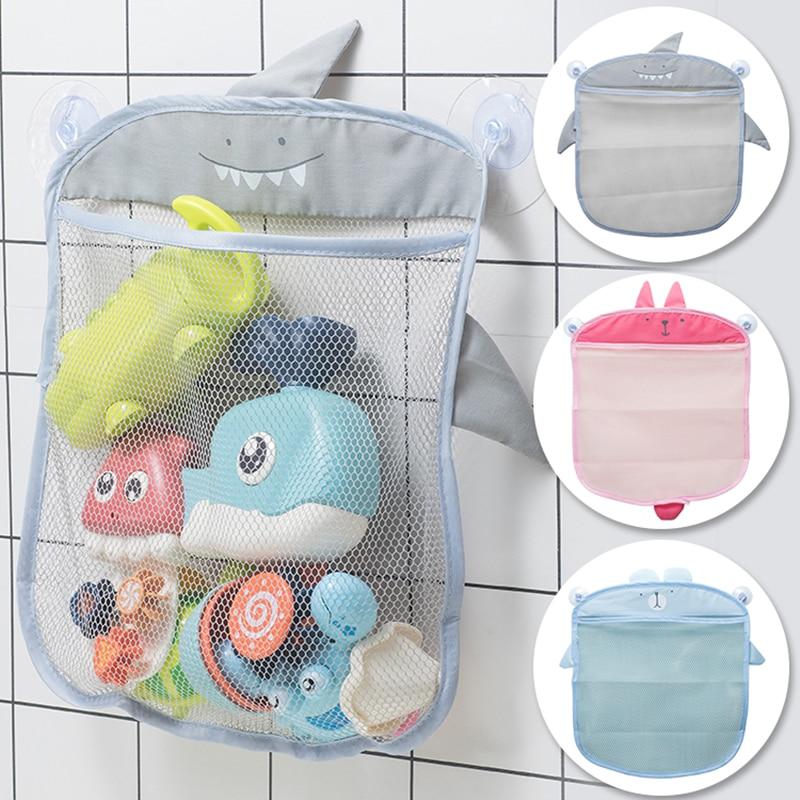 Cartoon Wall Hanging Storage Bag Mesh Net Storage Hanging Basket Baby Shower Toys Holder Bathroom Shampoo Organizer Container