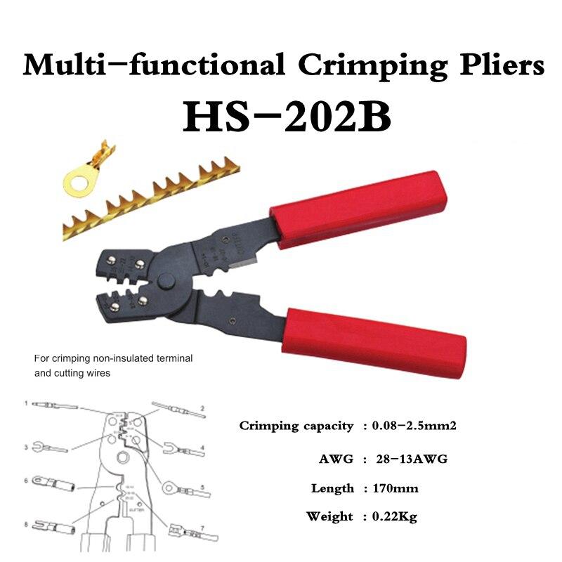 HS-202B alicate de friso multi-funcional para friso fios de corte terminaland no...