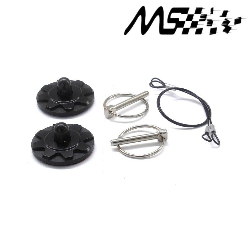Carro preto de alta qualidade mais nivelado capô trava kit pino corrida fechaduras do motor automático capô bloqueio kit capa