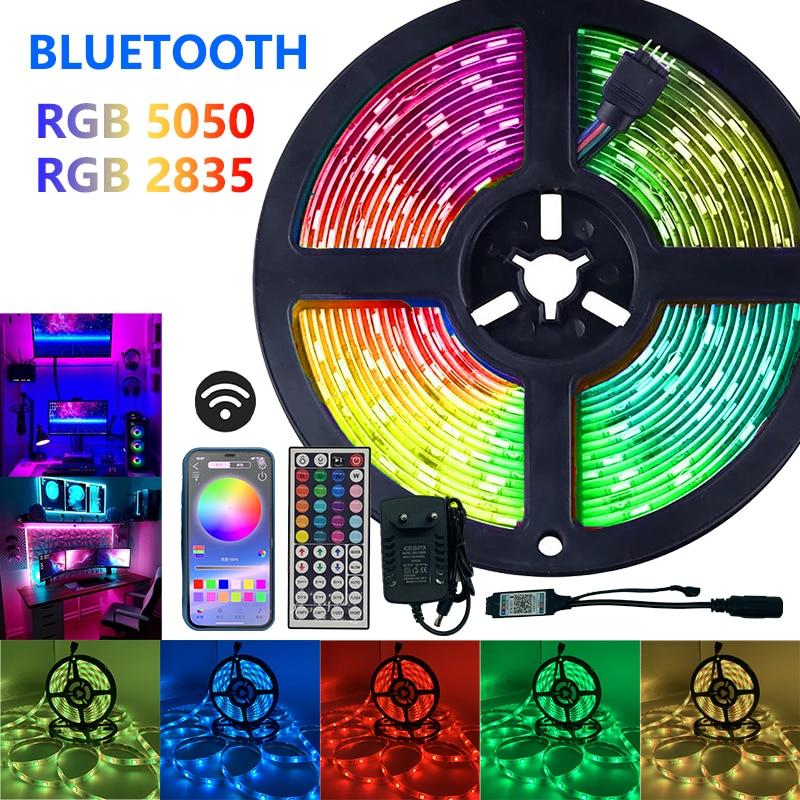 Tira de Luces Led SMD 5050 RGB, 2835 Luces, IR, Bluetooth, WIFI,...