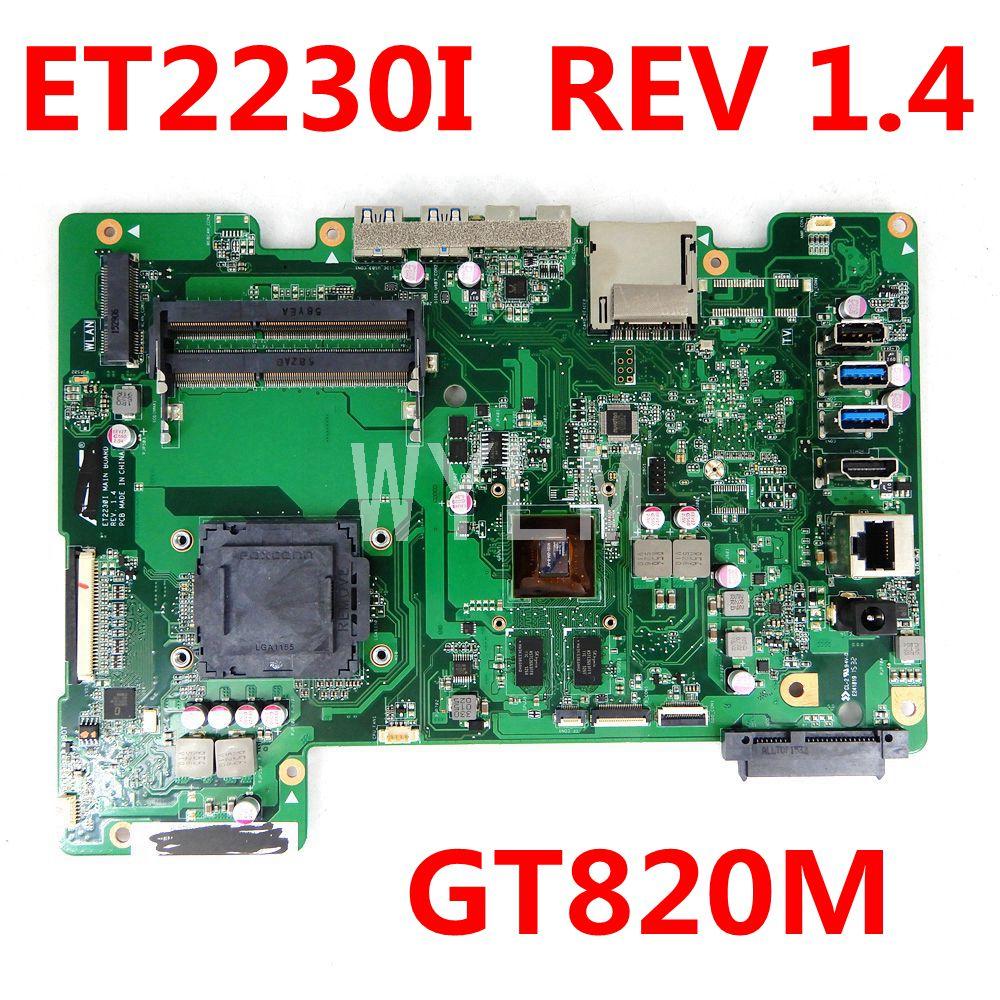 ET2230I GT820M اللوحة الرئيسية REV 1.4 الكل في واحد اللوحة الأم ASUS ET2230I ET2230 90PT0110-R03000