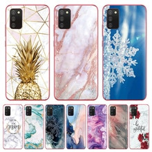 luxury clear Unique marble pattern Phone case For Samsung Galaxy A02s 6.5inch Back cover for Galaxy