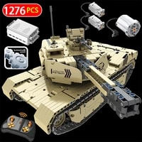 military series 2 4g rc m1a2 tank model building blocks compatible technical remote control tank bricks sets toys for boys