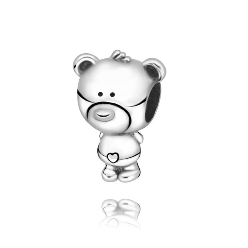 2020 Новинка 100%, серебряные бусины 925 пробы на День святого Валентина, мультяшная подвеска с мышкой, подходят для оригинальных браслетов Pandora, Женские Ювелирные изделия DIY