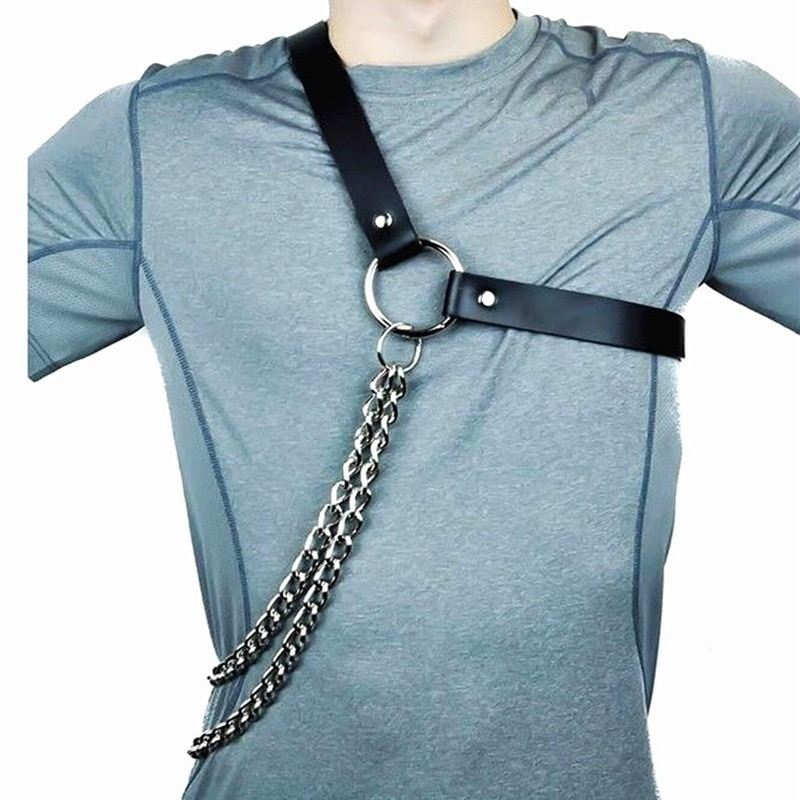 KINHSW-حزام جلدي مثير للنساء ، ملابس داخلية أنثوية ، حزام عبودية ، حزام سلسلة بانك