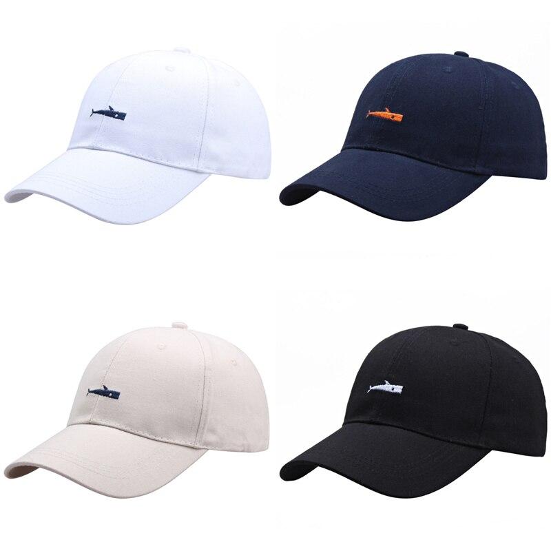 Высококачественная бейсболка с вышивкой в виде акулы, головной убор для папы, мужские спортивные кепки для гольфа в стиле хип-хоп, головные ...