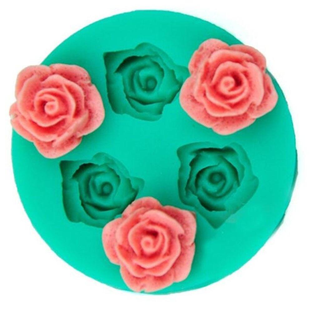 Горячая Новинка 3D Пищевая силиконовая форма розы формы для выпечки шоколадных конфет желе силиконовые формы для украшения свадебного торта инструменты