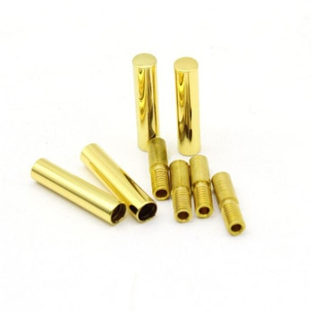 100 PCS Metal Aglets Shoelaces Tips Head DIY Replacement Metal Tips Gold Round Shoelace All DHL
