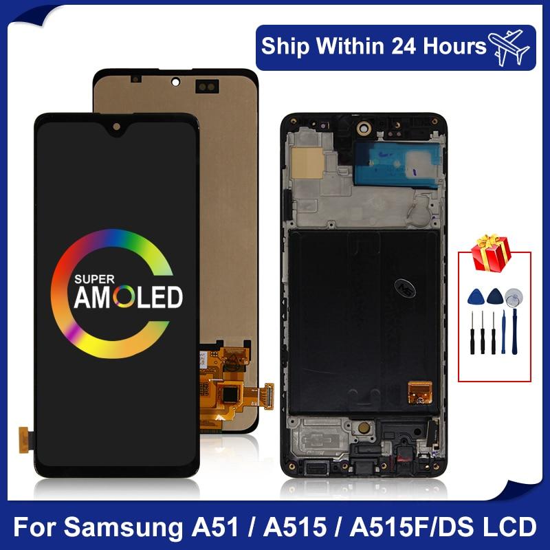 ЖК-дисплей Super AMOLED для Samsung Galaxy A51, SM-A515FN/DS A515F/DS, сенсорный экран с дигитайзером для Samsung A515, сменные детали