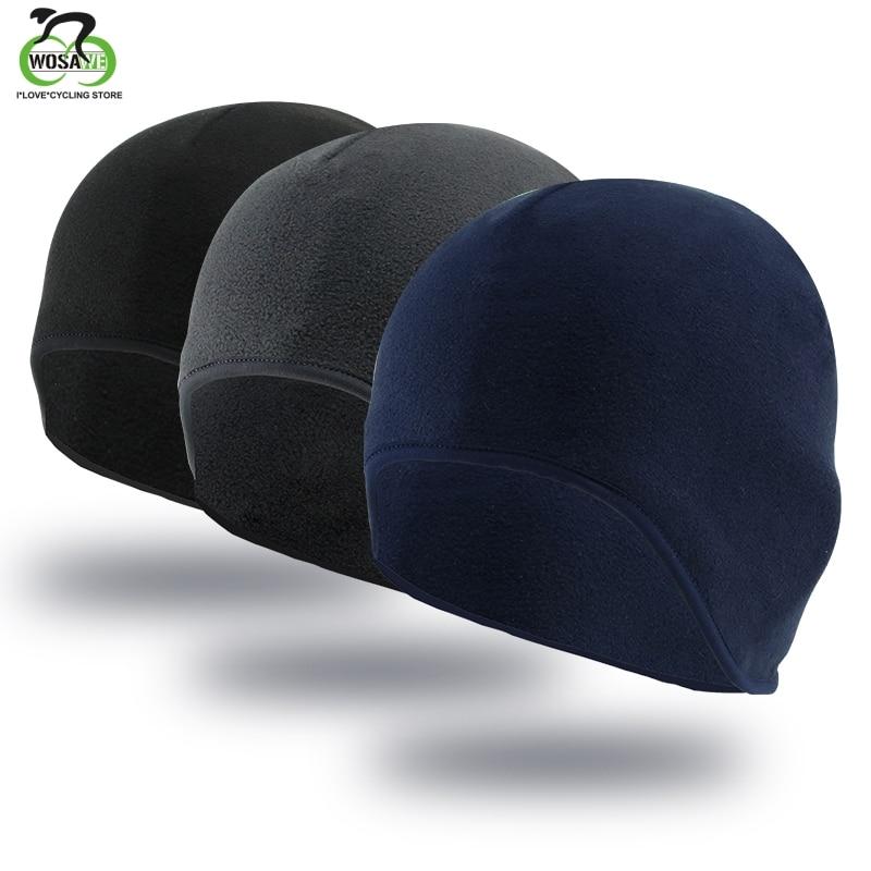 WOSAWE Men Winter Windproof Thermal Fleece Cycling Cap Running Skiing Motocycle Riding Head Hat Woman MTB Bike Cycling Headwear