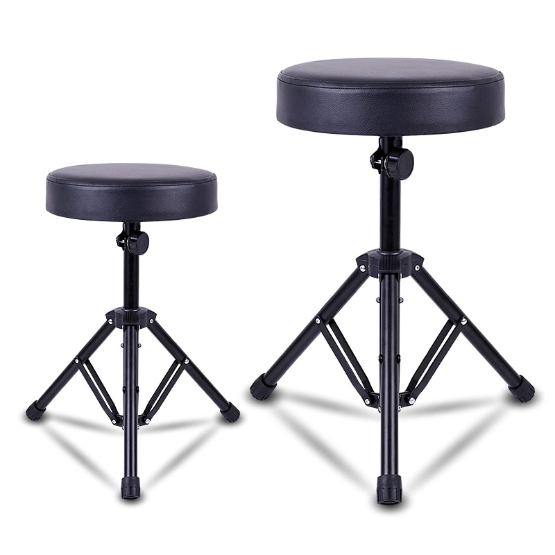 Stringed Instruments Parts Jazz Drum Stool Adjustable Height Rotating Seat Thick Leather Sponge Drum Stool