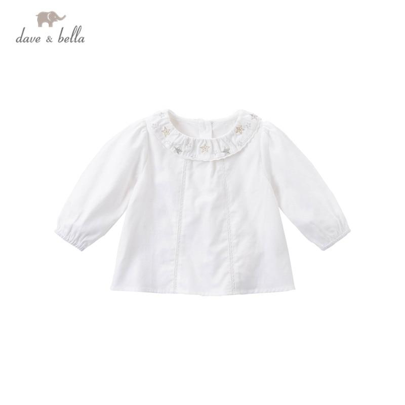 Dave bella/DB15338; Осенние Рубашки с вышивкой в виде звезд для маленьких девочек; Топы для малышей; Детская одежда высокого качества|Блузки и рубашки| | АлиЭкспресс