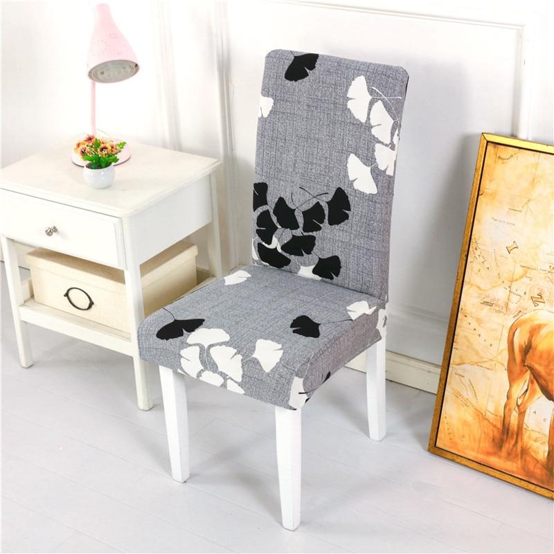 Housse de chaise Spandex Stretch housses 1/2/4/6 pièces couleur unie chaise couvre pour cuisine salle à manger chaise tissu décoration housse