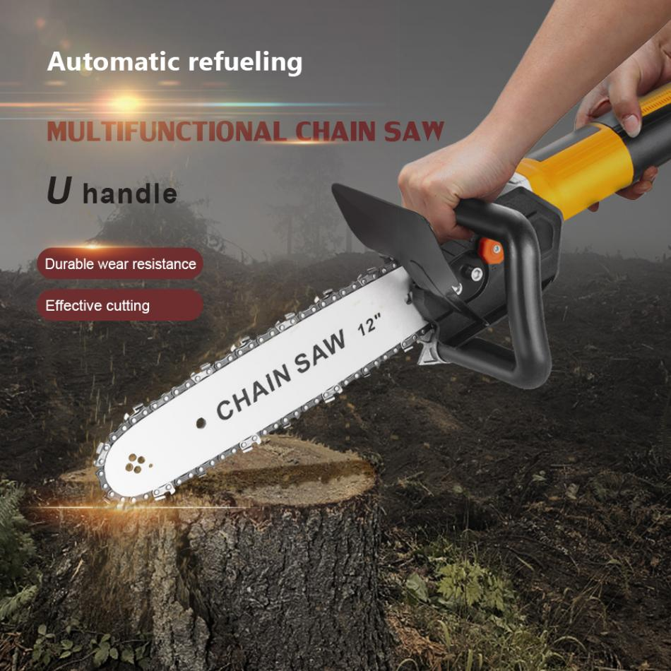 12 Inch Chainsaw Bracket Changed  Electric Angle Grinder M10 Into Chain Saw Woodworking Power Tool Set enlarge