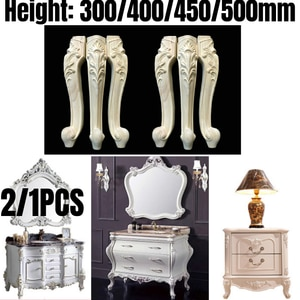 2/1PCS Solid Wood Furniture Legs Feet Replacement For Sofa Couch Chair Coffe Tea Table Cabinet TV Stands 300/400/450mm