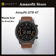 Global Version Amazfit GTR 47mm Smart Watch 5ATM Waterproof 24 Days Battery Music Control Leather Silicon Strap No Retail Box