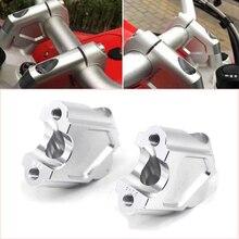 Motorcycle CNC Handle Bar Clamp Raised Extend Handlebar Mount Riser Raiser For BMW F700GS F650GS F700 600 GS 22MM Aluminum Alloy