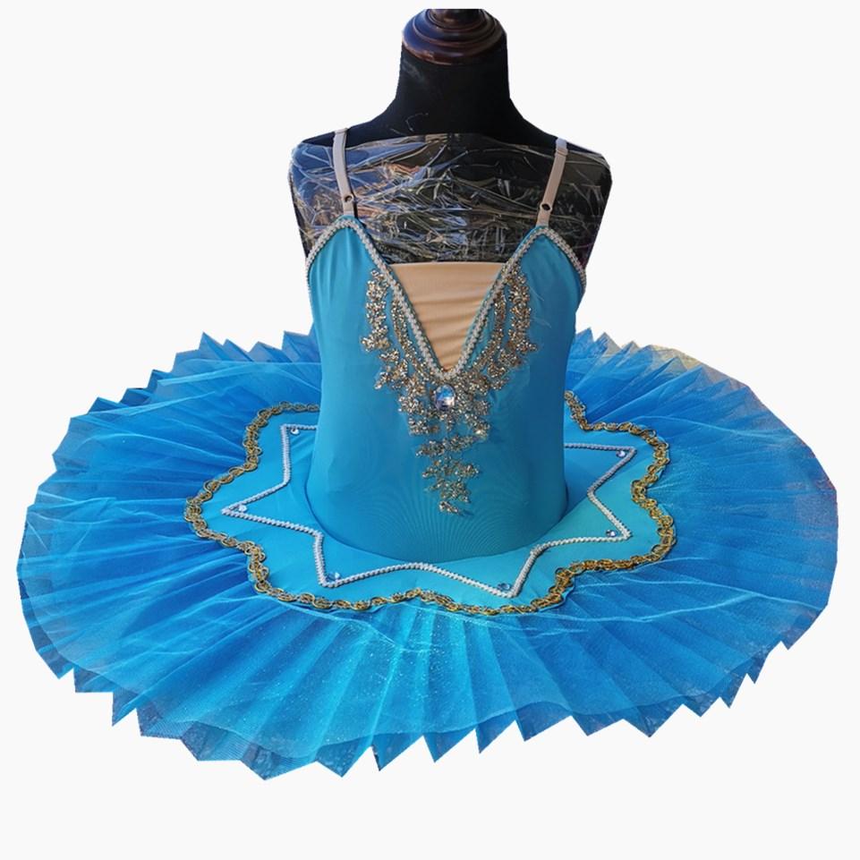 Ballet Dress Blue Belly Dance Tutus Skirts For Girls Little Dance Dress Sky Blue Cute Girls Barre Costumes High Quality